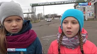 В Устьянах школьники вместе с сотрудниками ГИБДД провели акцию «За руку с детством»