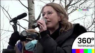 Ксения Собчак побывала на полигоне в Волоколамском районе