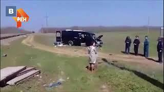 Первое видео с места смертельного ДТП с электричкой в Крыму