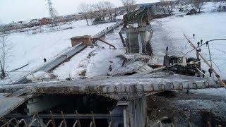 Строители назвали причину обрушения моста в Нефтеюганском районе