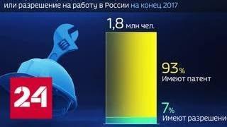 Россия в цифрах. Откуда приезжают работать в Россию - Россия 24