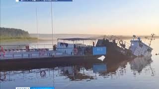В Мотыгинском районе утонул паром