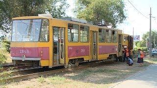В Волгограде трамвай сошел с рельсов