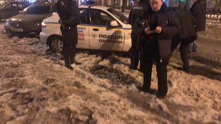 LIVE Полиция охраны ударило авто, без оформления ДТП валят