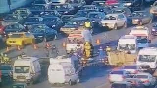 ДТП на Кутузовском проспекте в Москве 18.03.2018 реальная съемка