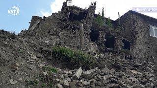В Агульском районе в результате обильных проливных дождей сильно пострадало высокогорное село Бедюк.
