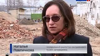 В Костроме продолжается строительство туркомплекса «Музейное подворье»