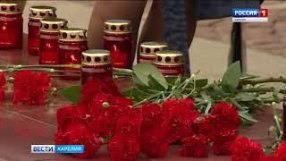 """В День памяти и скорби в Петрозаводске раздавали """"Красные гвоздики"""""""
