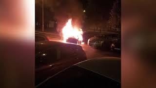 На улице Блюхера ночью сгорел автомобиль