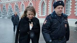 Опубликовано видео нападения на Собчак