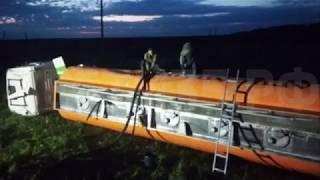 Бензовоз опрокинулся к кювет в Грязовецком районе