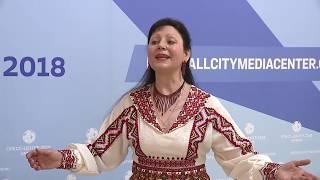 Од пинге. Нина Спиркина в пресс-центре Саранска