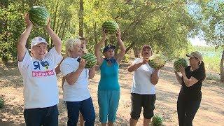 В Среднеахтубинском районе пенсионеры стали участниками арбузного фестиваля