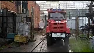 В Омске горит завод Баранова