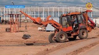 В Чебоксарском районе продолжается строительство современного тепличного комплекса