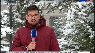 Как Амурская область встретила снежный циклон