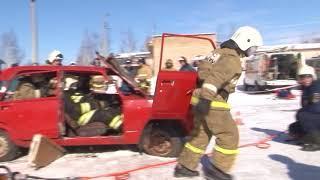 Видео с соревнований тульских спасателей по ликвидации последствий ДТП