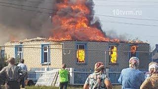 Пожар в Дубенском районе