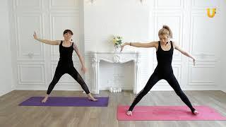 Заряд бодрости #146.  Аштанга йога.  Укрепляющий комплекс с акцентом на нижнюю часть тела