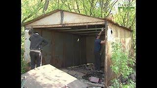 В Самаре судебные приставы вскрывают и демонтируют самовольно установленные гаражи