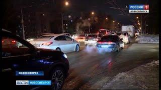 Из-за снега Новосибирск встал в 10-балльных пробках