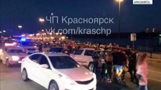 В Красноярске два водителя устроили перестрелку на набережной