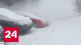 Столичные коммунальщики не справляются с количеством снега - Россия 24