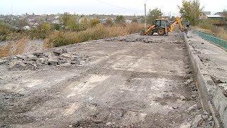 В Городище начался ремонт аварийного моста