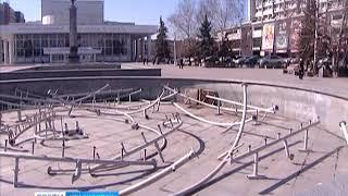 Музыкальный фонтан на Театральной площади Красноярска этим летом работать не будет