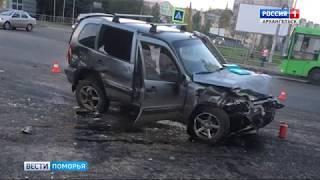 Серьёзная дорожная авария произошла накануне в центре Архангельска
