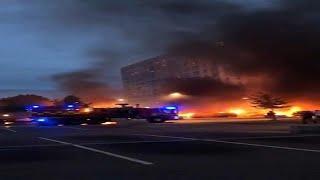 В Швеции за ночь сгорели около ста машин