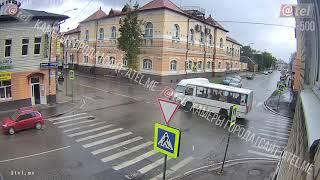 ДТП прекресток Чкалова Пушкина 18 09 2018