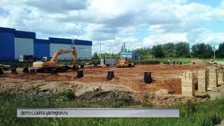В Мышкине начали строительство многофункциональной спортплощадки