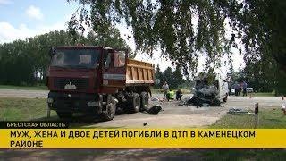 Супруги и двое их маленьких сыновей погибли в ДТП в Каменецком районе