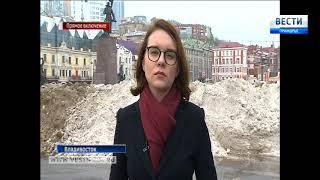 """Прокуратура взяла """"пробы"""" снега с центральной площади"""
