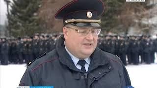 На площади перед БКЗ состоялся торжественный гарнизонный развод красноярской полиции