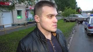 Пьяная Ирина на шестерке разбила светофор ул  Воровского