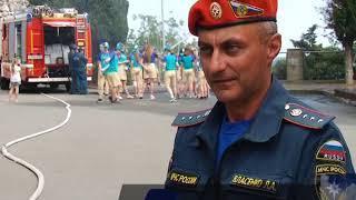 Сотрудники МЧС и Ксения Симонова устроили праздник в Артеке