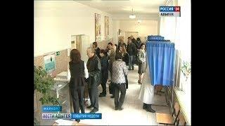 В столице республики и в районах голосование шло полным ходом весь день