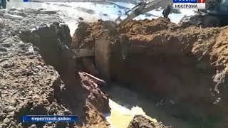 В Костромской области река Нерехта едва не затопила одноимённый город