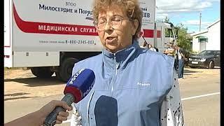 Передвижной центр здоровья в Волковойно