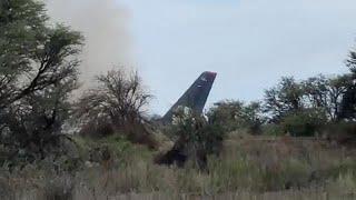Пассажир снял крушение самолета изнутри