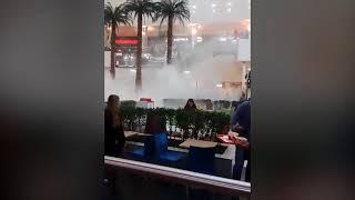 В Красноярске загорелся ТРЦ Планета