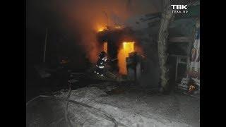 Пожар в Центральном парке Красноярска