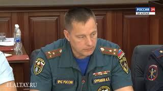 Глава РА Александр Бердников провел заседание КЧС