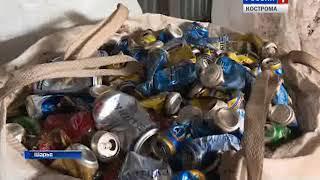 В Шарье заработал мобильный мусоросортировочный комплекс