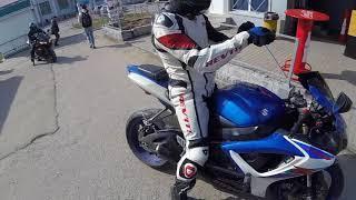 первое дтп на мотоцикле в 2018. покатушки по городу на Yamaha R1. езда на байке 18+ мат
