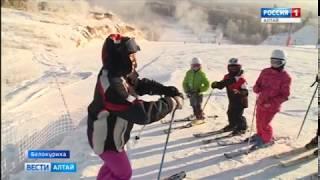 На некоторых алтайских склонах открыли горнолыжный сезон