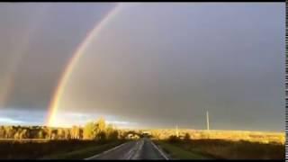 Жители области наблюдали двойную радугу