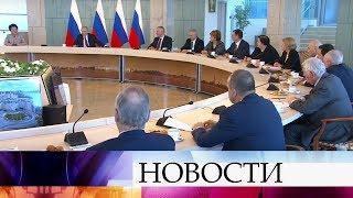 Владимир Путин в Санкт-Петербурге посетил НМИЦ имени В.А.Алмазова.